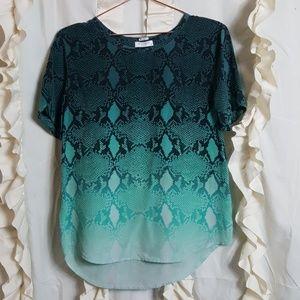 Equipment Femme ombre snake print silk shirt top